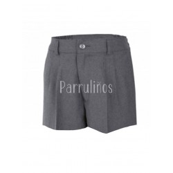 Pantalón corto con botones