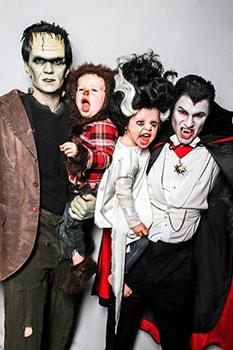 Disfraz de Halloween en familia