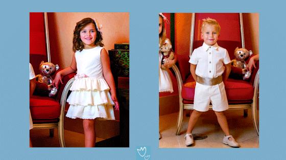 ropa infantil para eventos niño y niña