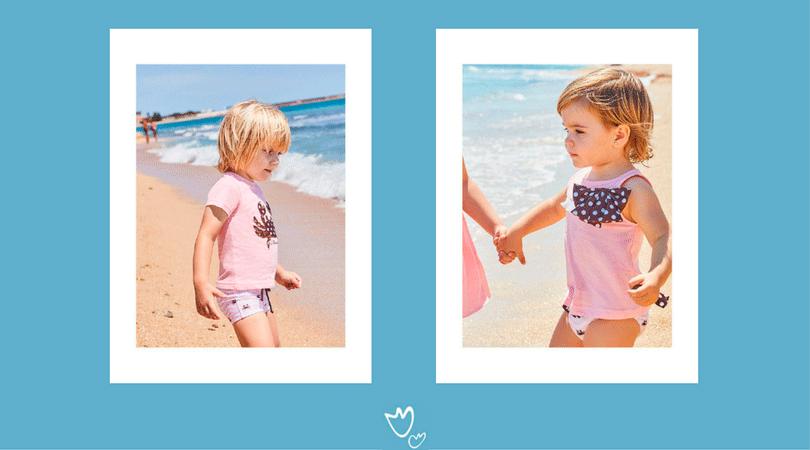 trajes de baño infantiles, día de playa con niños